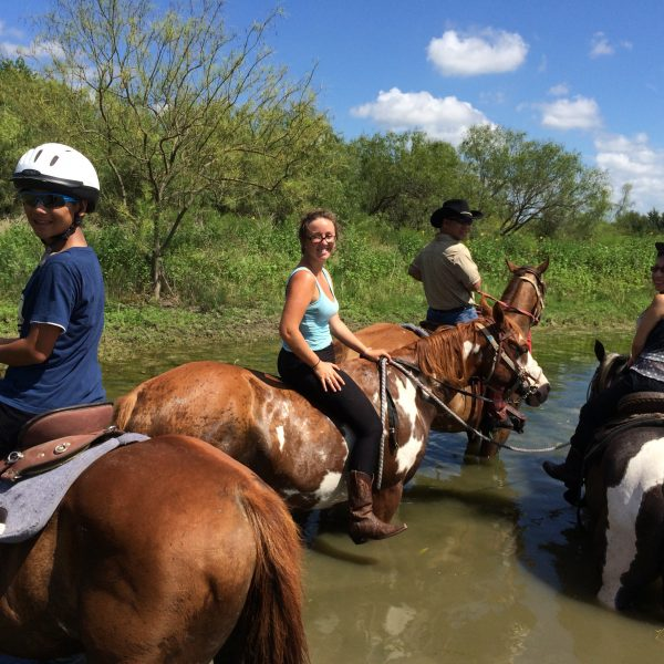 So much fun taking a trail ride in the heat of Texas when you have a nice place to cool off