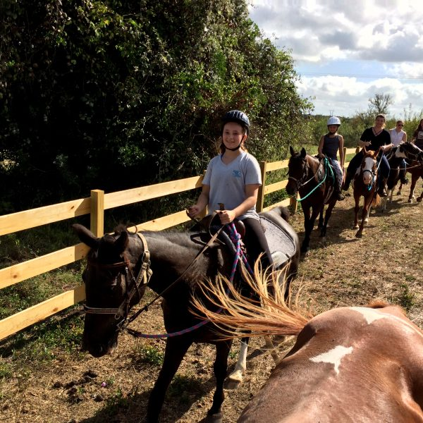 Youth summer camper on gaited mare for sale in Texas