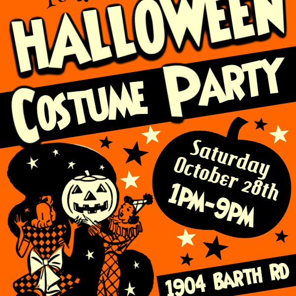 Flyer for Halloween activities this year in Lockhart